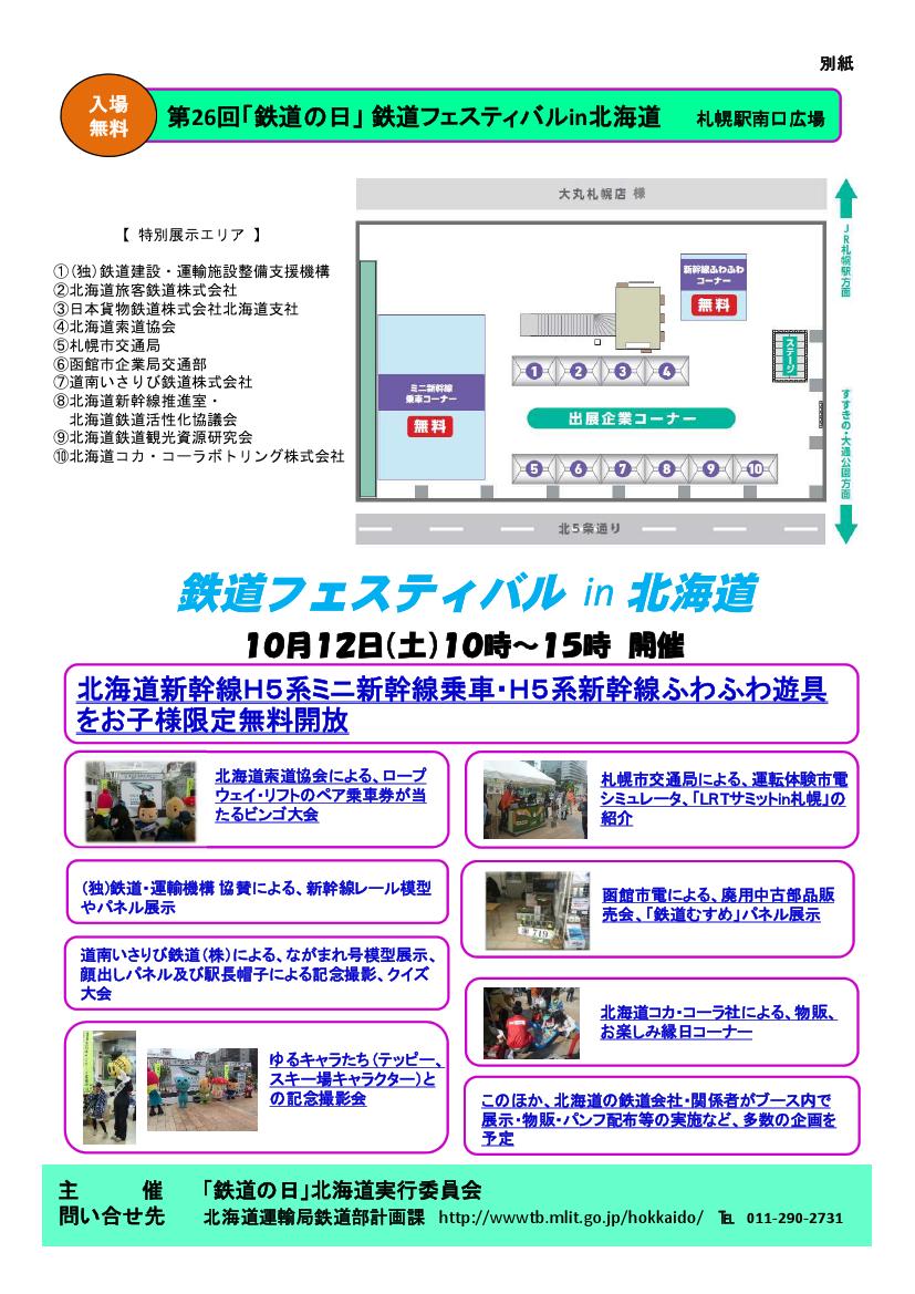 鉄道フェスティバル in 北海道