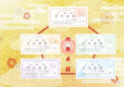 学文路駅入場券セット(イメージ)