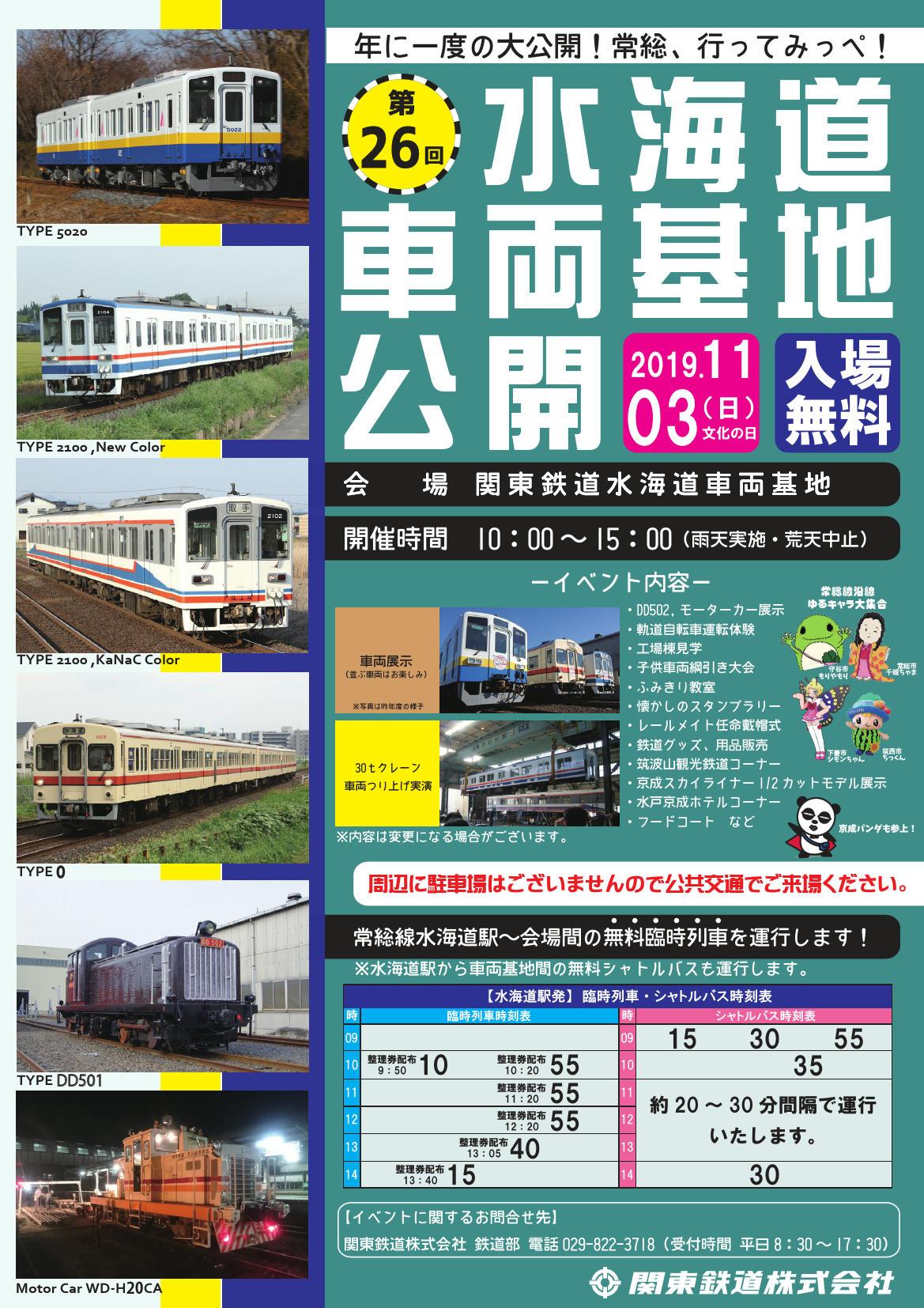 水海道車両基地公開(ポスター)