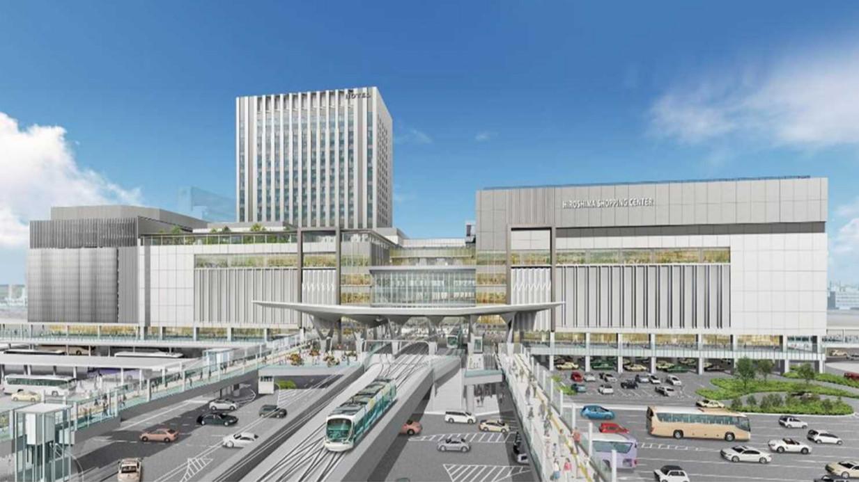 広島駅に高架で乗り入れる広島電鉄(イメージ)