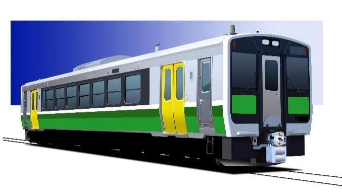 デザインを変更するキハE120形(イメージ)