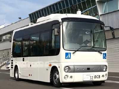 自動運転バス実証実験車両(イメージ)