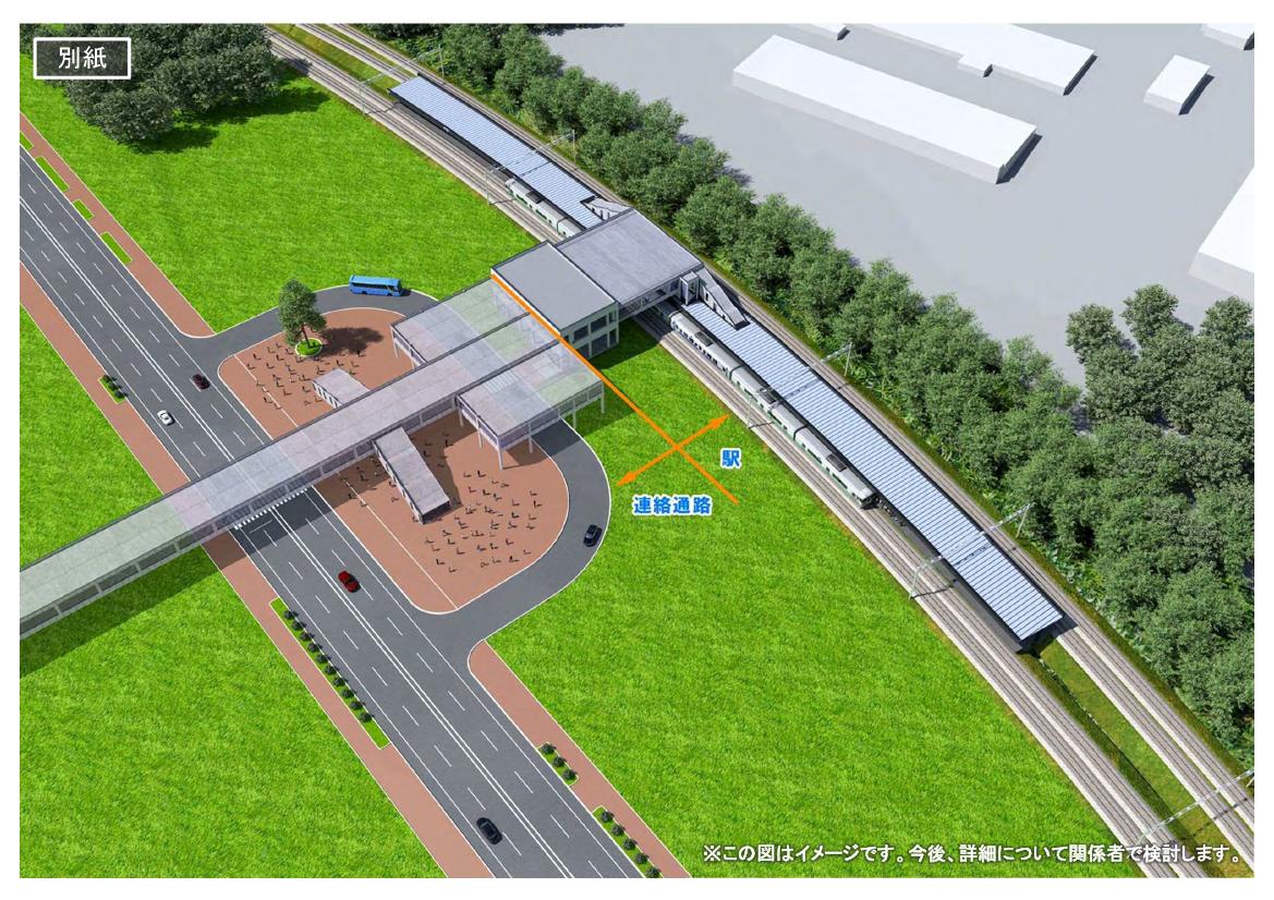ボールパーク新駅(イメージ)