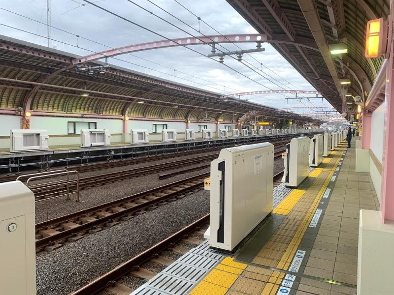 梅ヶ丘駅(ホームの様子)