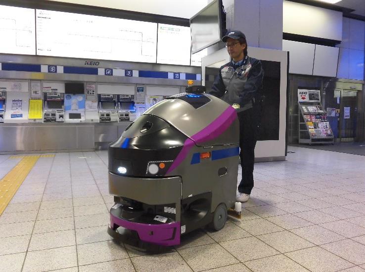 自律走行式ロボット床面洗浄機