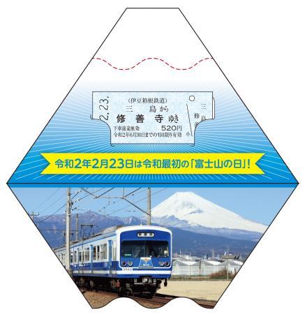 記念乗車券 青富士版(イメージ)