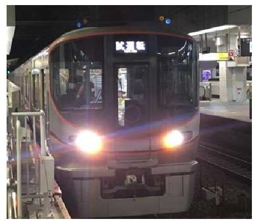 自動運転の試験列車