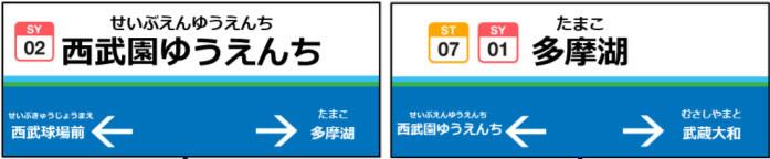 駅名変更後の駅名標(イメージ)