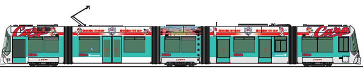 カープ電車(イメージ)