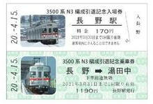 記念入場券・乗車券(イメージ)