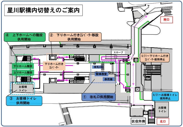 星川駅構内図
