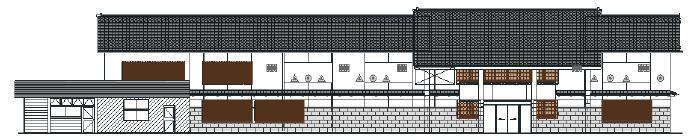 駅舎壁面(塗装イメージ)