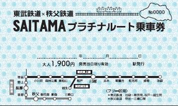 SAITAMAプラチナルート乗車券(イメージ)