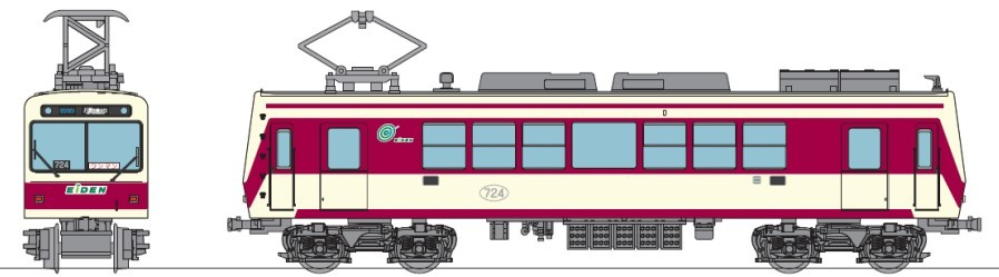 鉄道コレクション 叡山電車700系(登場時カラー)オリジナル仕様(イメージ)