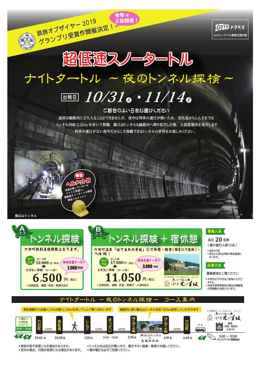 ナイトタートル ~夜のトンネル探検~