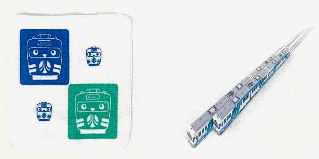 ハンドタオルとハシ鉄(イメージ)