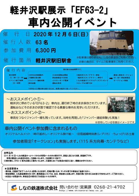 EF63-2 車内公開イベント