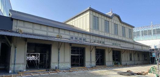 折尾駅新駅舎(工事中の様子)