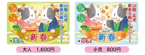 新春全線パス2021(イメージ)