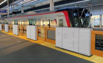 新越谷駅ホームドア(設置イメージ)