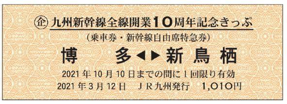 記念きっぷ(券面イメージ)