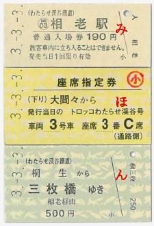 3並びきっぷ(券面イメージ)