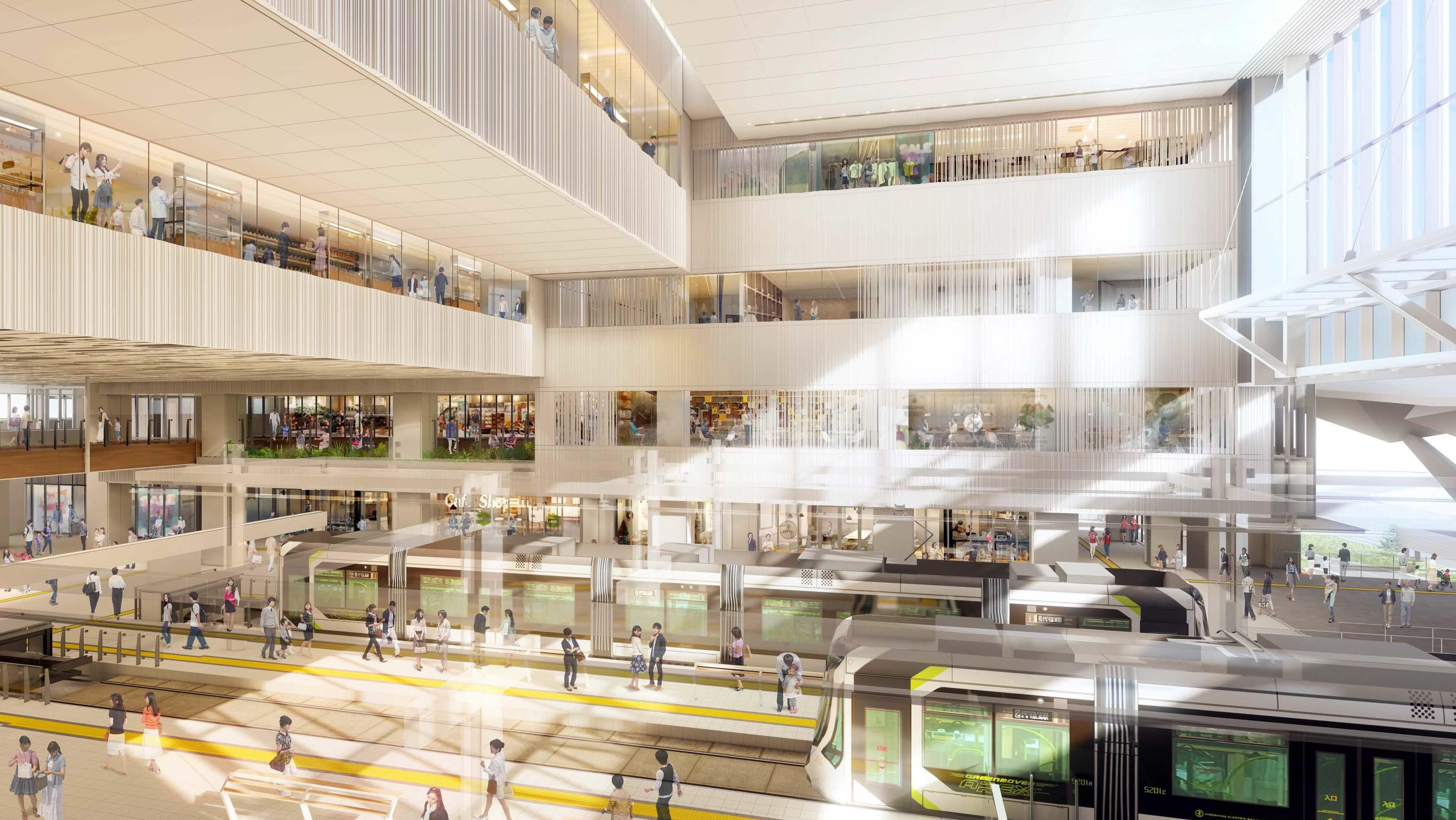 新駅ビル2階広場(イメージ)