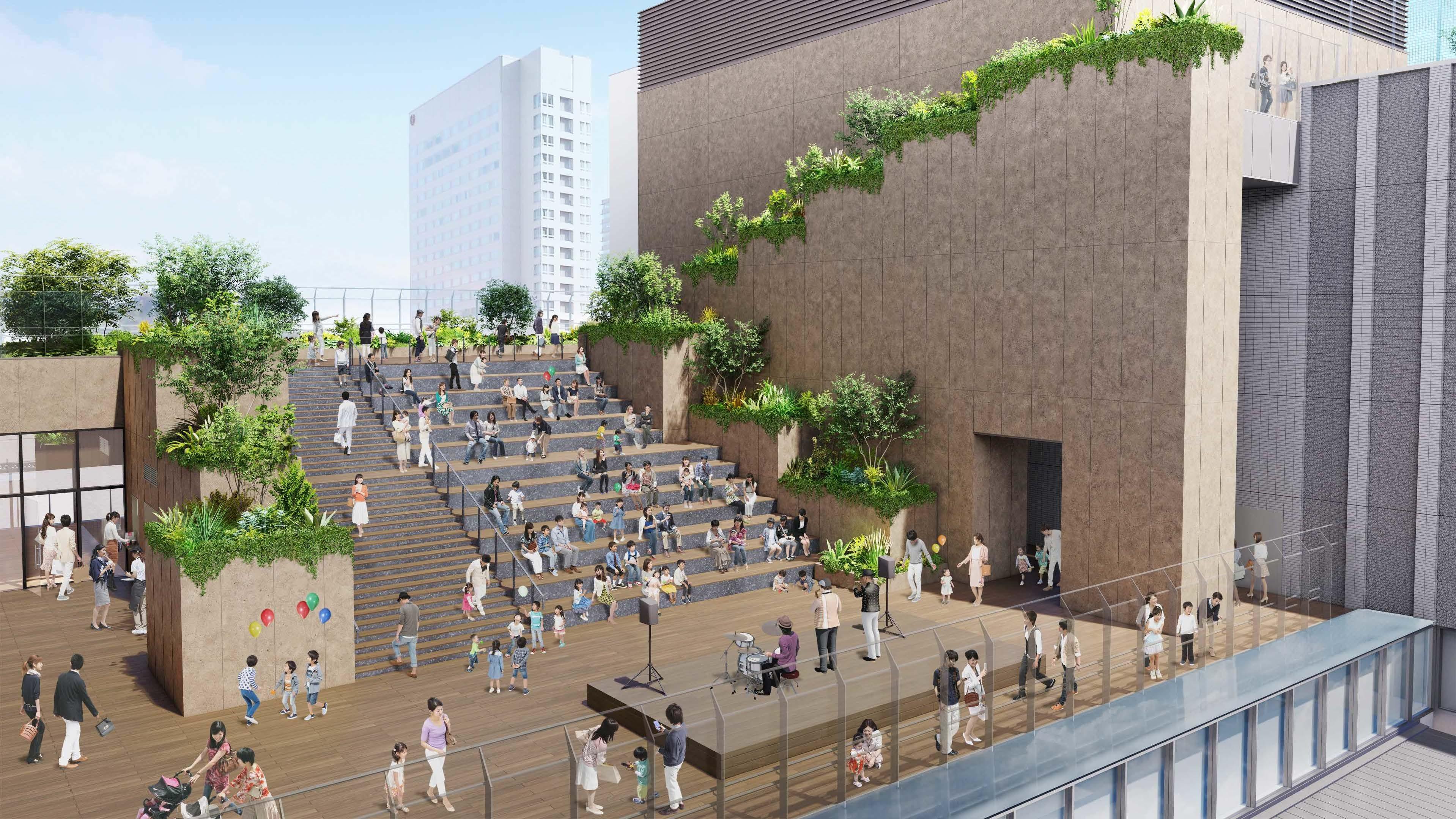 雁木をイメージした大階段(イメージ)
