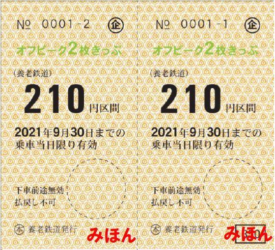 オフピーク2枚きっぷ(イメージ)