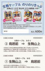 近鉄 生駒ケーブルのりのりきっぷ 発売
