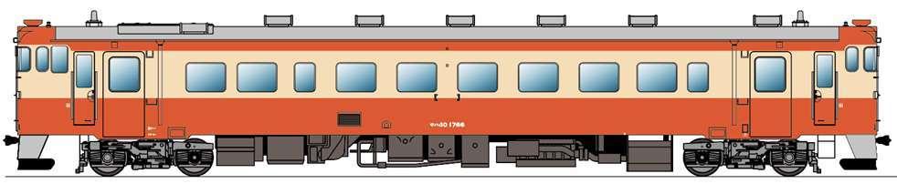 キハ40系国鉄一般気動車標準色塗装車両(イメージ)