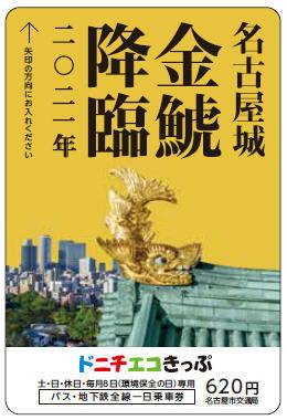 記念ドニチエコきっぷ(券面イメージ)