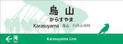 烏山駅新駅名標(イメージ)
