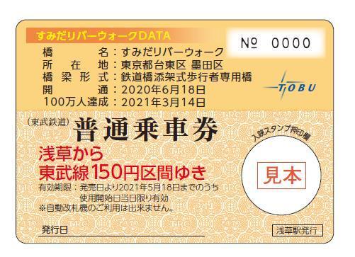 橋カード(乗車券面イメージ)