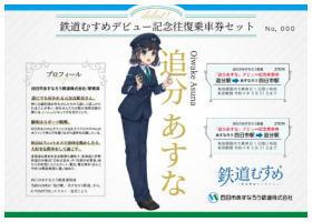 記念往復乗車券セット(イメージ)