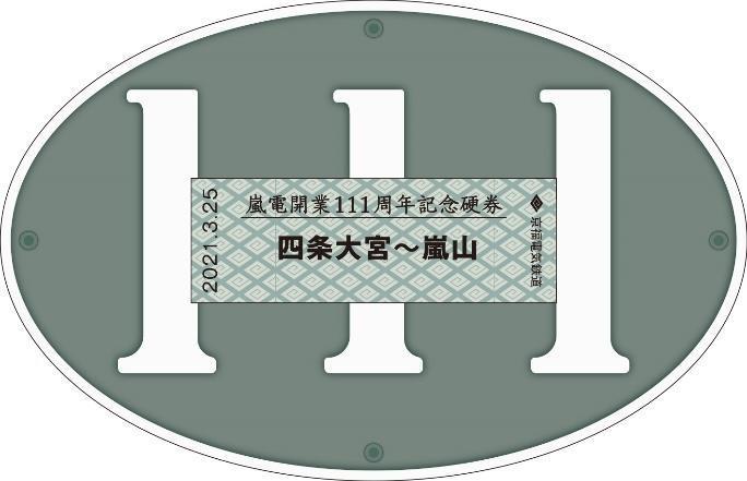 記念硬券 ナンバープレートVer.(イメージ)