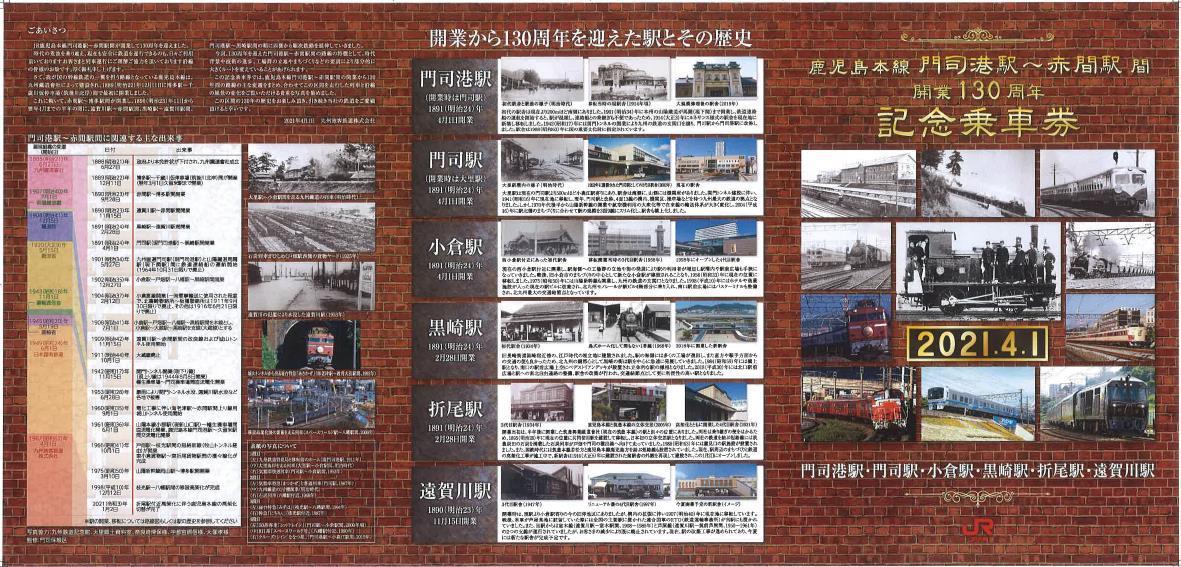記念乗車券(台紙表面イメージ)