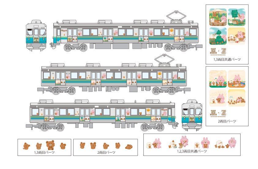 ピスケ&うさぎラッピング電車(イメージ)