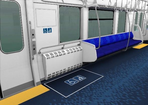 車いすスペース(イメージ)