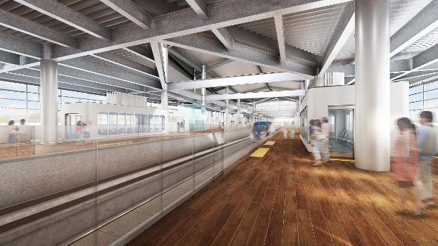 敦賀駅新幹線ホーム(イメージ)