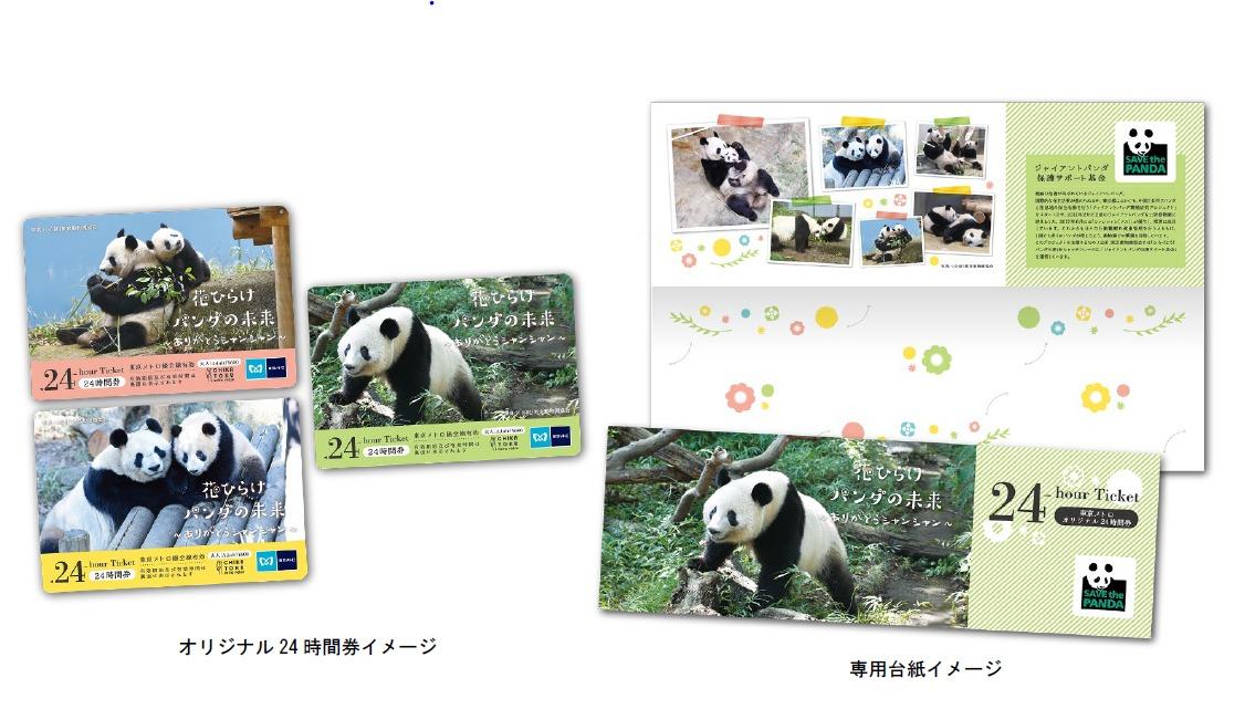 花ひらけパンダの未来24時間券(イメージ)