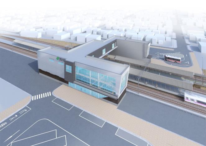 羽後本荘駅(外観イメージ)