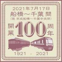 船橋~千葉間開業100周年ヘッドマーク(イメージ)
