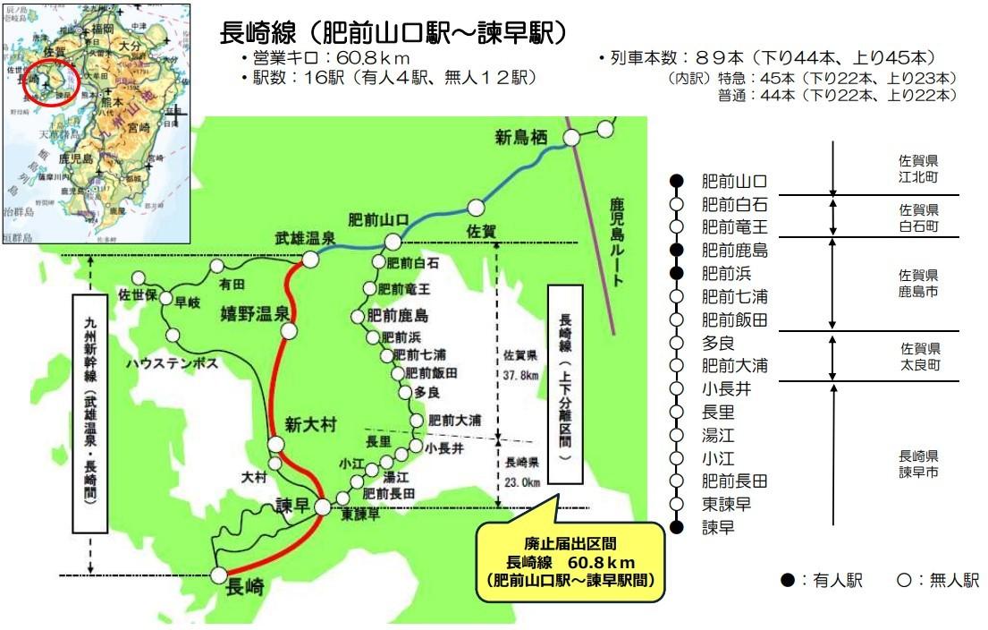 長崎本線と西九州新幹線