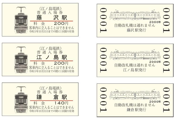 2000形入場券(イメージ)