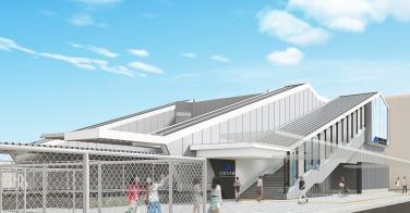 山城青谷駅新駅舎(イメージ)