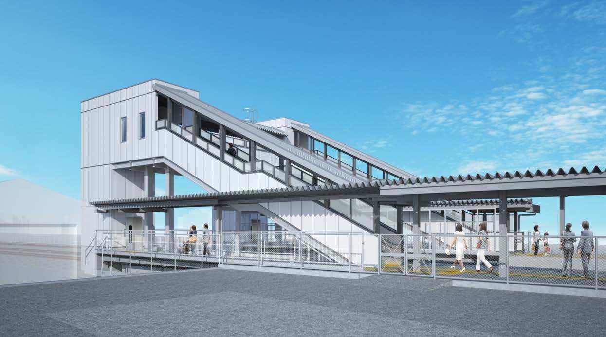 新城駅エレベーター・跨線橋(イメージ)