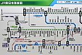 上越線のループ区間を示すJR東日本の路線図