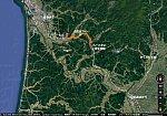 羽後境から和田までの路線図(あきひこ)
