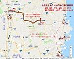 山田線上米内-川内間の運行再開図(あきひこ)